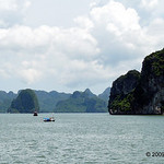 Hundreds of tiny islands dot Ha Long Bay
