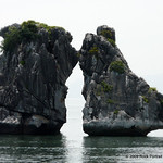 These rocks are supposedly used as icons to represent Ha Long Bay in some literature. I can't find evidence to support that, but the Junk guides all take their groups here for quick photo op ...