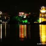 Hoam Kien Lake at night - beautiful!