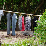 Every day is washing day. How they get their clothes dry is hard to figure out, with 95% humidity a lot of the time.