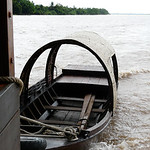 This smaller sampan is used for travelling up the tributaries.