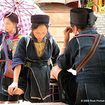 Women from the Black H'mong tribe try to sell handicrafts to every tourist they see.  And they are persistent.