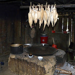 Corn drying in the kitchen of a typical village house