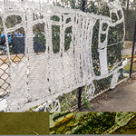 Not sure if this is crochet or macrame, but it's all around the Hurstbridge train station and people don't vandalise it.